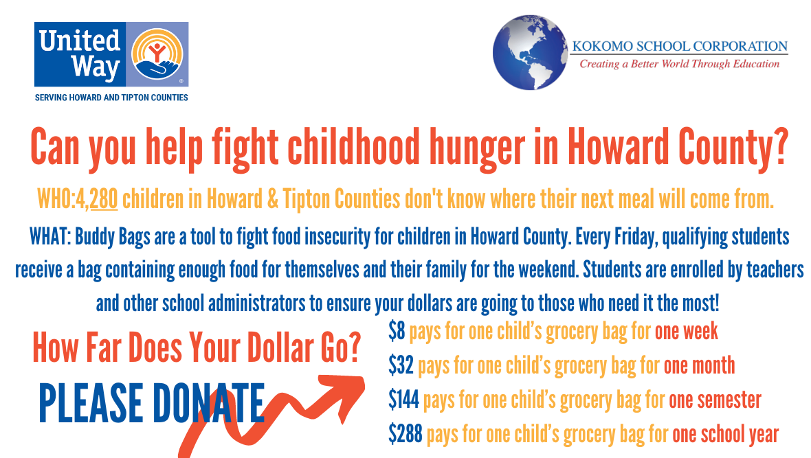 Can you help fight food insecurity for Kokomo School Corporation students?