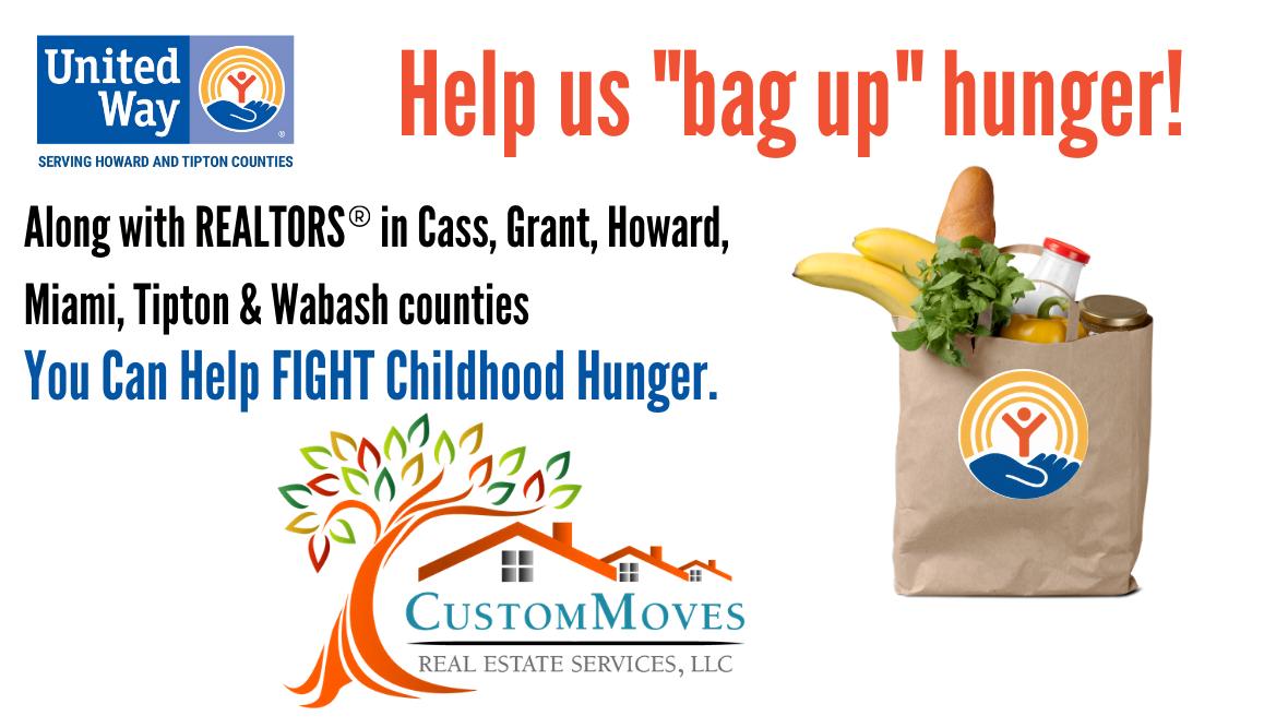 """Custom Moves Real Estate """"Realtors Bag Up Hunger Campaign"""""""